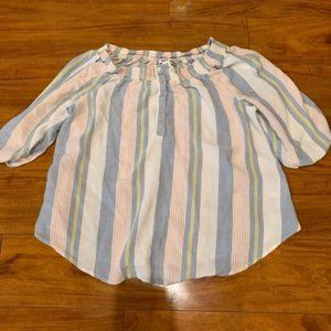 BDG Urban Outfitters Striped Top White/Blu…